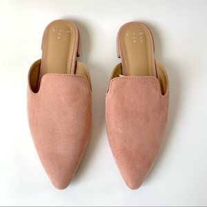Vegan Pink or Blush Colored Mules